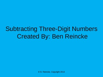 Subtracting Three-Digit Numbers TurningPoint Clicker Presentation