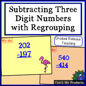 Subtracting Three Digit Numbers with Regrouping for Promet