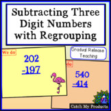 Subtracting Three Digit Numbers with Regrouping in Power Point