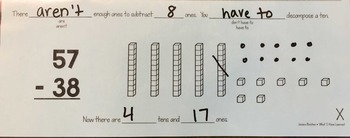 Subtracting Two-Digit Numbers: Decompose a Ten