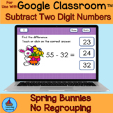 Subtracting Two-Digit Numbers No Regrouping Spring Bunnies for Google Drive™