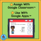 Subtracting Two Digit Numbers Valentine Kids for Google Classroom™