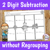 Double Digit Subtraction Without Regrouping Worksheets