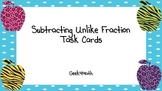 Subtracting Unlike Fractions Task Cards