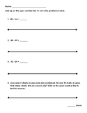 Subtracting Using Adding Up on a Number Line Worksheet