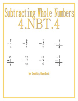 Subtracting Whole Numbers