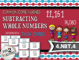 Subtracting Whole Numbers Task Cards - 28 CCSS Aligned Middle Grades Cards
