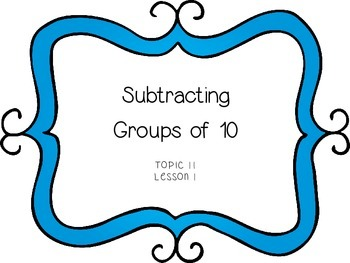 Subtracting With Tens and Ones - First Grade enVision Math