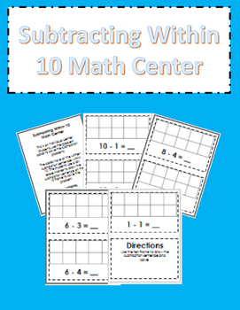 Subtracting Within 10 Math Center