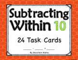 Subtracting Within 10 Task Card Activities for Kindergarte