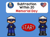 Subtracting Within 20 Memorial Day Self -Correcting Intera