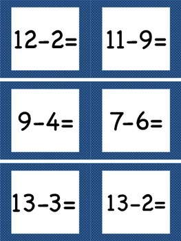 Subtracting Within 20 Task Cards
