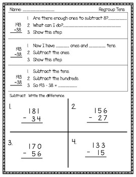 Subtracting Within 200