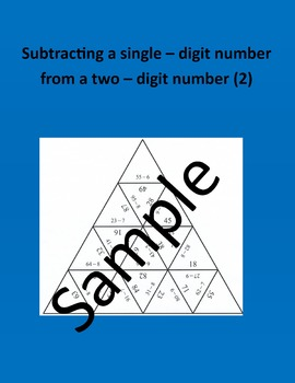 Subtracting a single – digit number from a two – digit num