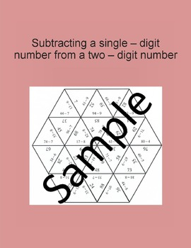 Subtracting a single – digit number from a two – digit number 1 – Math puzzle