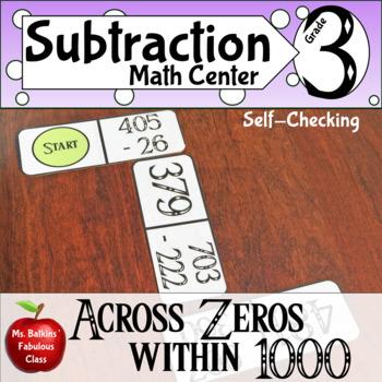 Subtracting across Zero within 1000 Dominoes  3.nbt.2