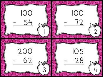 Subtracting across the 0's zeros - 3 digit