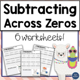 Subtracting across zeros worksheets