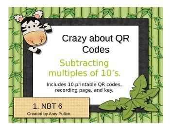 Subtracting by Tens with QR Codes