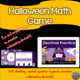 Subtracting decimals in the Haunted House