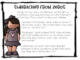 Subtracting from Zeros