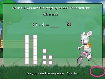 Subtracting from a Two-Digit Number PowerPoint (Regrouping or No Regrouping)