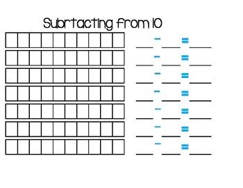 Subtracting from ten! 10