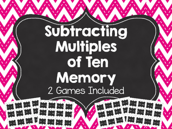 Subtracting Multiples of Ten Memory
