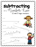 Subtracting on a Number Line (2 and 3 Digit Numbers)