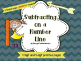 Subtracting on a Number Line Super Pack
