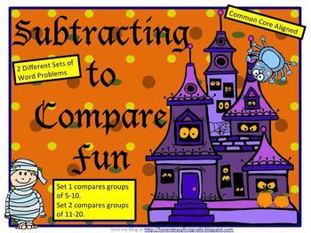 Subtracting to Compare Fun! (Common Core aligned)