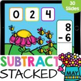 Stacked Subtraction up to 10 Kindergarten Math Google Slid