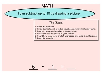 Subtracting up to 10 Using a Picture