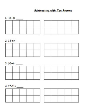 Subtracting with 10 Frames