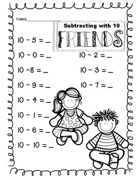 Subtracting with 10 Friends