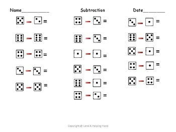 Subtracting with Dice