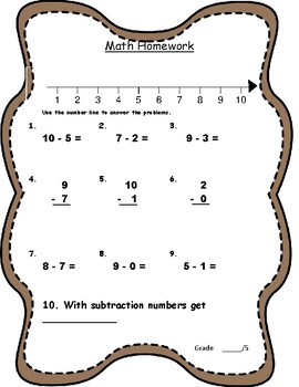 Subtracting with Number Lines