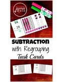 Subtracting with Regrouping Task Cards with Base Ten Blocks