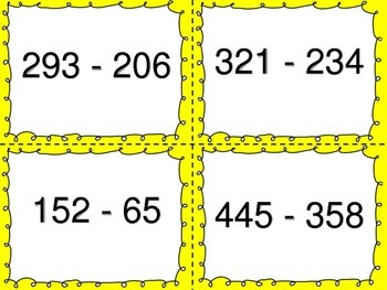 Subtracting with Regrouping:  Team Up