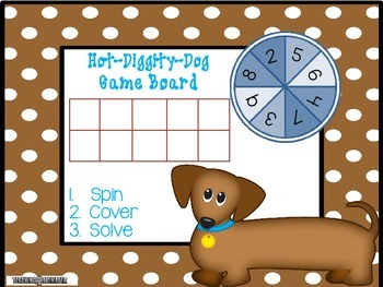 Subtracting with Tens Frames Math Center--Hot-Diggity-Dog