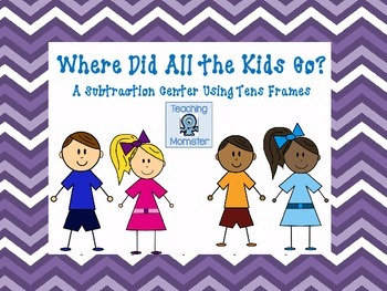 Subtracting with Tens Frames Math Center--Where Did All th