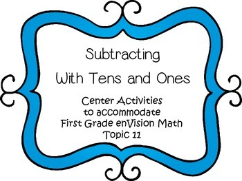 Subtracting with Tens and Ones - Math Centers - First Grad