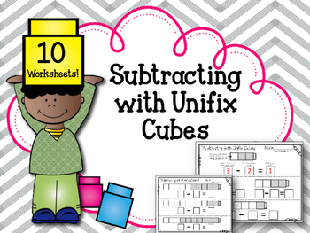 Subtracting with Linking Cubes. Interlocking counting blocks