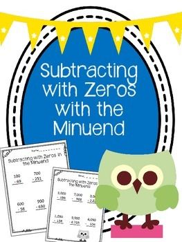 Subtracting with Zeros in the Minuend Worksheets. Borrowin