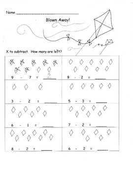 Subtracting with pictures Subtract from 10 or less 5 ...