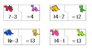 Subtracting within 20 Puzzles-1st Grade Math Center