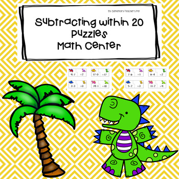 Subtracting within 20 Puzzles