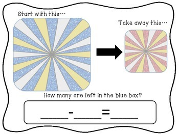 Subtraction Using Objects Mat {year2tastic}