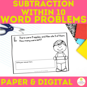 Subtraction within 10 Daily Word Problems First Grade