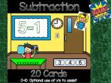 Subtraction 0-10: Digital Task Cards  ** Boom Cards **